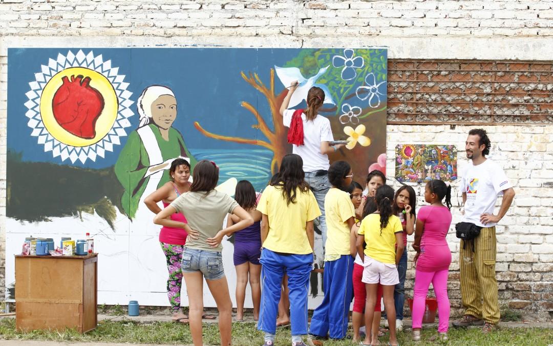 3ra Bienal Internacional MULI de Muralismo y Arte Público en Colombia. Transformando el museo con las manos llenas de color