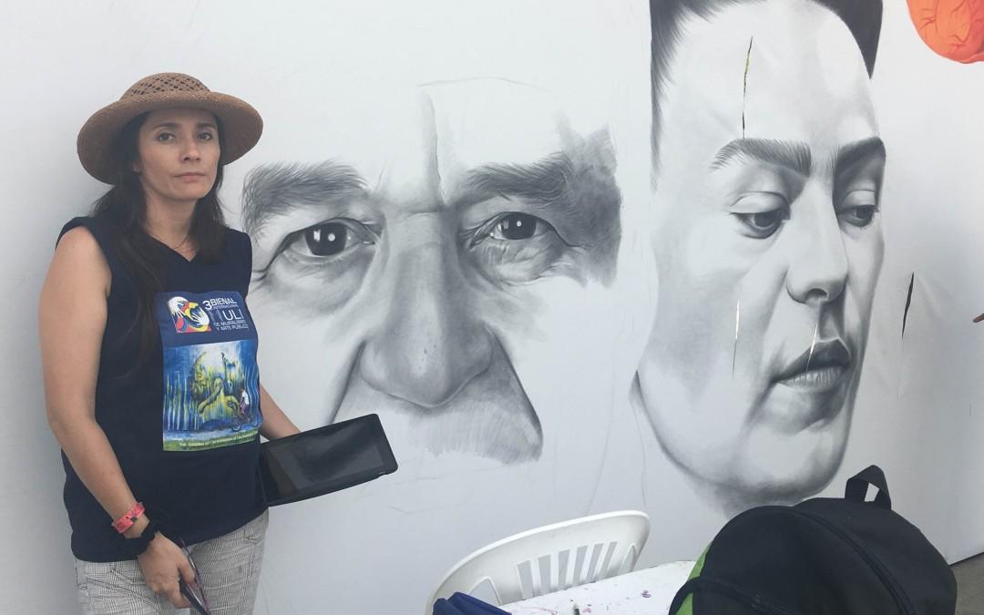Pronunciamiento de la Bienal de Muralismo sobre daño a una obra en elaboración